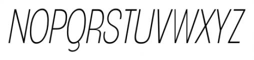 Angostura ExtraLight Italic Font UPPERCASE