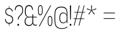 Angostura ExtraLight Font OTHER CHARS