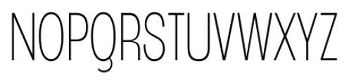 Angostura ExtraLight Font UPPERCASE