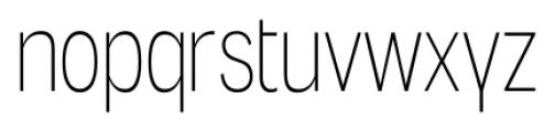 Angostura ExtraLight Font LOWERCASE