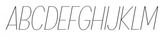 Angostura UltraLight Italic Font UPPERCASE