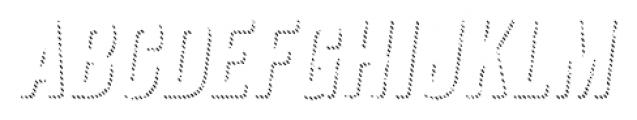 Anodyne Shadow Italic Font LOWERCASE