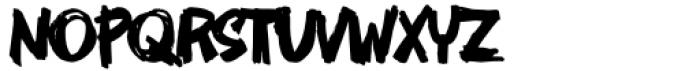 AN Swish Regular Font UPPERCASE