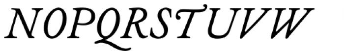 Analogia Italic Font UPPERCASE
