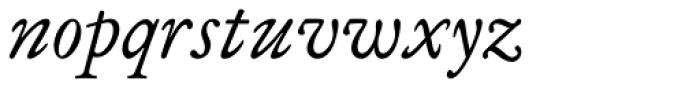 Analogia Italic Font LOWERCASE