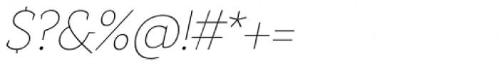 Anaphora Thin Italic Font OTHER CHARS