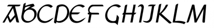 Anchor Bold Italic  Font UPPERCASE