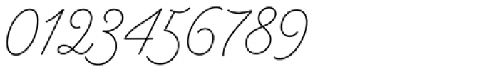 Anchor Script Thin Font OTHER CHARS