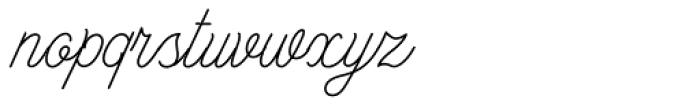 Anchor Script Thin Font LOWERCASE