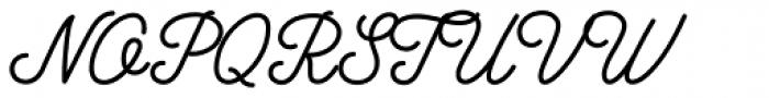 Anchor Script Font UPPERCASE