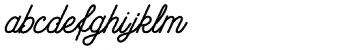 Anchor Script Font LOWERCASE
