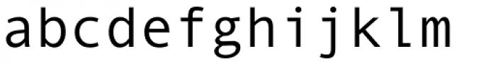 Andale Mono Pro Regular Font LOWERCASE