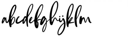 Andaretta Regular Font LOWERCASE