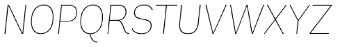 Andes UltraLight Italic Font UPPERCASE