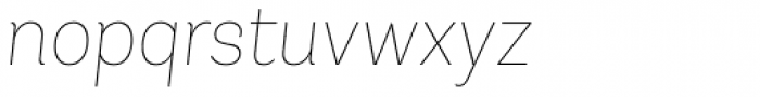 Andes UltraLight Italic Font LOWERCASE