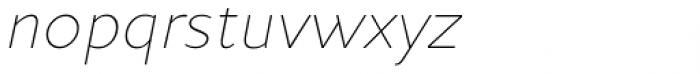 Andis Thin Italic Font LOWERCASE