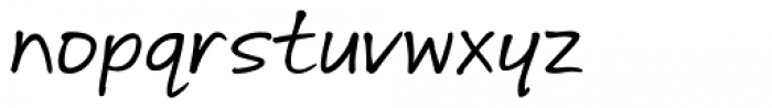 Andrea Hand Slanted Font LOWERCASE