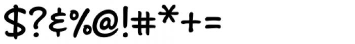 Andrea II Print Upright Bold Font OTHER CHARS