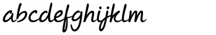 Andrea II Script Slant Medium Font LOWERCASE
