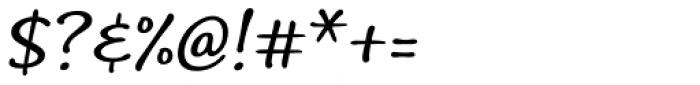 Andrea II Script Slant Nib Font OTHER CHARS
