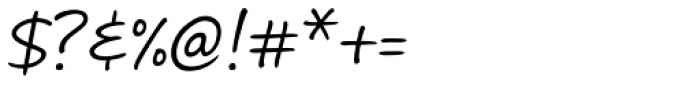 Andrea II Script Slant Font OTHER CHARS
