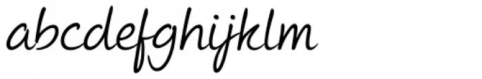 Andrea II Script Slant Font LOWERCASE