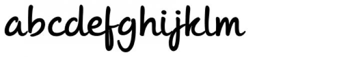 Andrea II Script Upright Bold Font LOWERCASE
