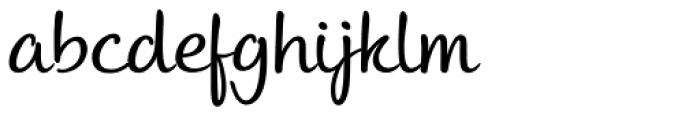 Andrea II Script Upright Nib Font LOWERCASE