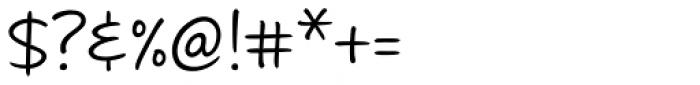 Andrea II Script Upright Font OTHER CHARS