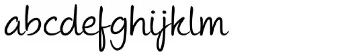 Andrea II Script Upright Font LOWERCASE