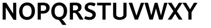 Andulka Sans Medium Font UPPERCASE
