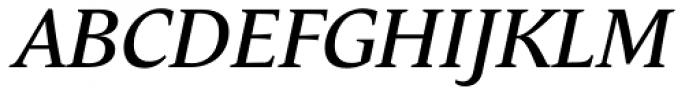 Andulka Text Italic Font UPPERCASE