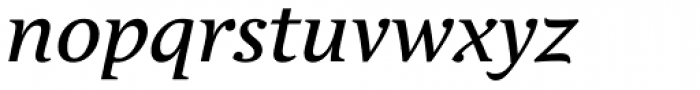Andulka Text Italic Font LOWERCASE