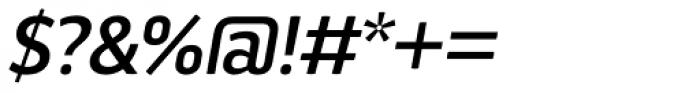 Aneba Neue Medium Italic Font OTHER CHARS