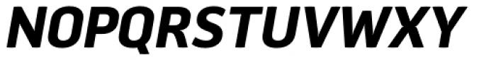 Aneba Neue SemiBold Italic Font UPPERCASE