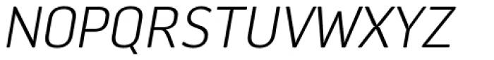 Aneba Neue UltraLight Italic Font UPPERCASE