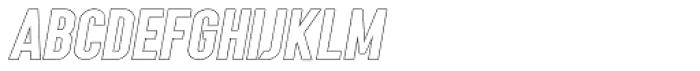 Angela Love Sans Outline Italic Font UPPERCASE