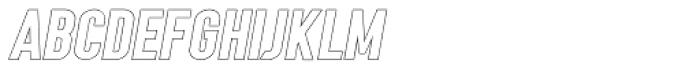 Angela Love Sans Outline Italic Font LOWERCASE