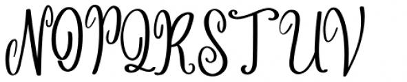 Angelina Script Regular Font UPPERCASE