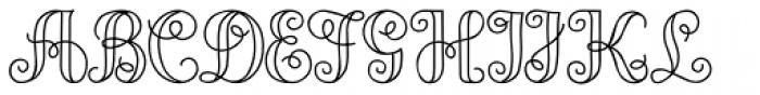 Angeline Font UPPERCASE
