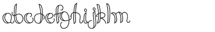 Angeline Font LOWERCASE