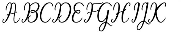 Angelonia Regular Font UPPERCASE