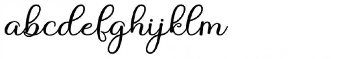 Angelonia Regular Font LOWERCASE