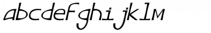 Angelus III Italic Font LOWERCASE