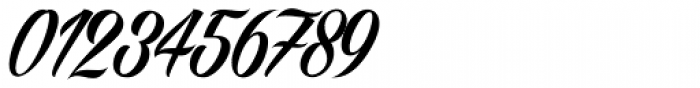 Angilla Tattoo Numbers Font OTHER CHARS