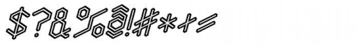 Angl Outline Bold Oblique Font OTHER CHARS