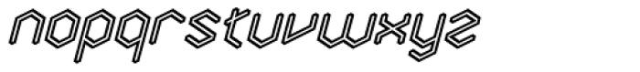 Angl Outline Bold Oblique Font LOWERCASE
