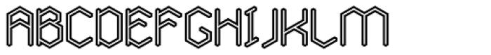 Angl Outline Bold Font UPPERCASE