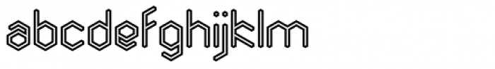 Angl Outline Bold Font LOWERCASE