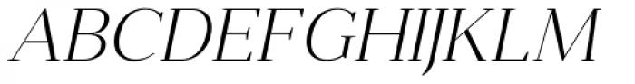 Anglecia Pro Display Extra Light Italic Font UPPERCASE